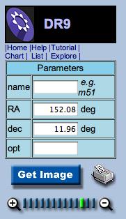 Navigate tool parameters box for Regulus