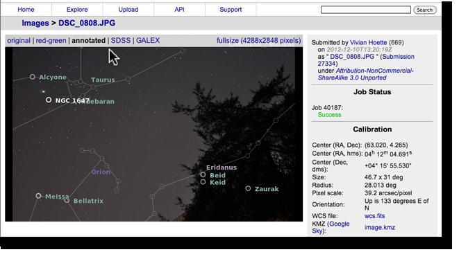 Image summary screen
