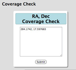 RA, Dec Coverage Check