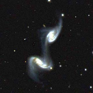 Two galaxies interacting