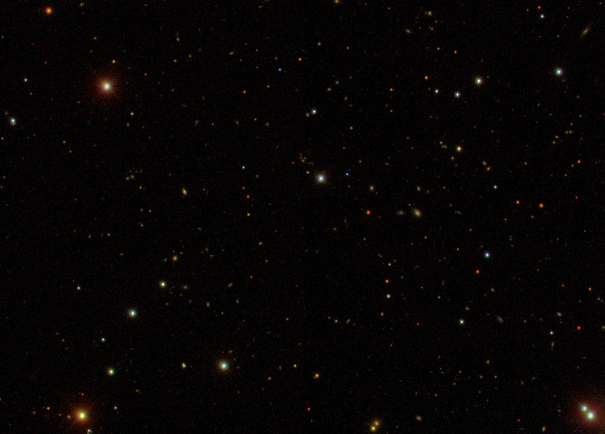 A sky image from the SDSS telescope: Run 752, Camcol 2, Field 289