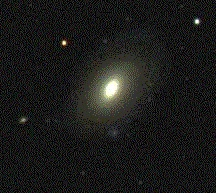 An image of an elliptical galaxy