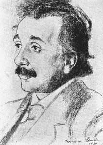 Sketch of Albert Einstein