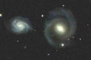 Pair of spiral galaxies