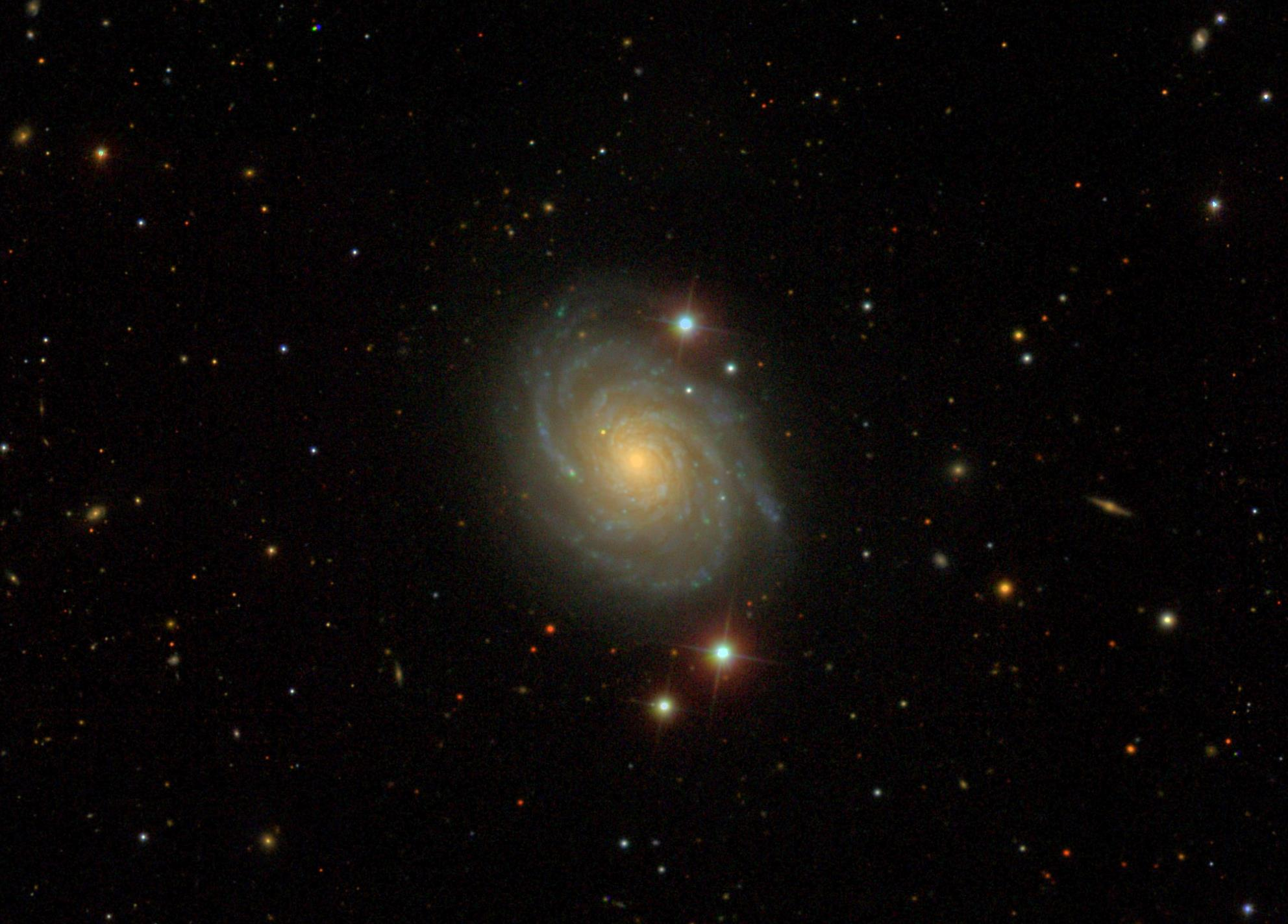 An SDSS image of the area of sky near galaxy NGC 4030